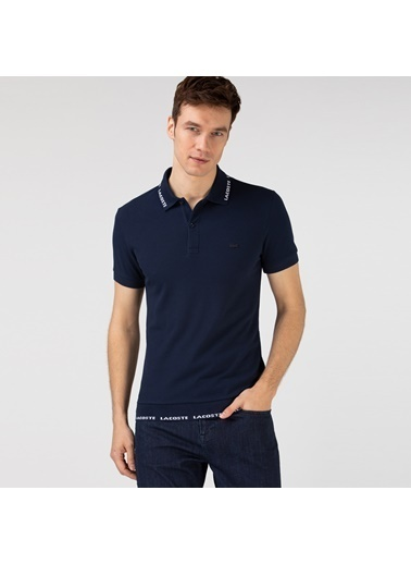 Lacoste Erkek Baskılı Tişört PH0144.44L Lacivert